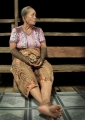 A Kayan woman at her longhouse home in t...